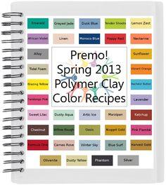Premo Spring 2013 Polymer Clay Color Recipe Ebook