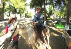 Nadine on horseback