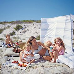 Whitstable Stripe Windbreak | The White Company... For those perfect summer days on the beach...