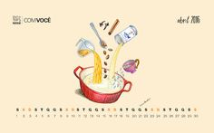 Doce Cozinha Hanagic: Calendário Digital Nestlè - Abril