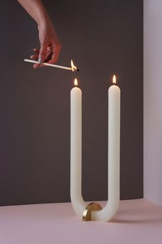 Dinning Room Tables, A Table, Studio U, Host Gifts, Taper Candles, White Candles, Burning Candle, Candle Making, Candlesticks