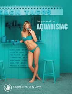 Body Glove Smoothies Campaign  By Brune & Blonde  Color - Aquadisiac