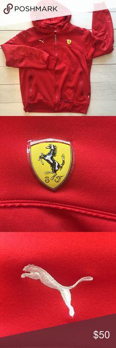 0d29243d6c0 Scuderia Ferrari X Puma jacket Red Sz Medium logo Scuderia Ferrari X Puma  Hooded Jacket Red