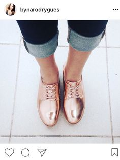 Tendência sapatos metálicos #shoes #metalic #rosegold #trend #fashion