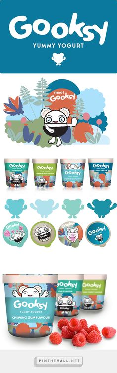 GOOKSY. MILK YOGURT. DESIGN on Behance by Uldus Bakhtiozina Saint Petersburg, Russian Federation curated by Packaging Diva PD. For the packaging smile file : )