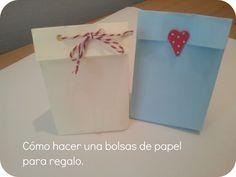 Tutorial: c�mo hacer unas bolsas de papel para regalo.