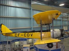 1930 Avro AVIAN CF - CDV at Alberta museum   - aircraft, black, wheels, museum, airplane, Airfields, yellow