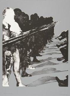 Rafael Canogar - La tierra 5: Vivo Tiempos sombríos