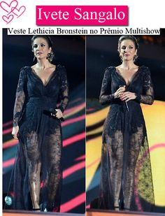 Ivete Sangalo veste Lethicia Bronstein. Lace dress.