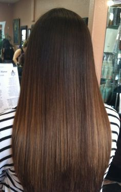I'd like a natural transition Balayage Straight Hair, Long Hair Highlights, Brown Hair Balayage, Ombre Hair, Caramel Hair Highlights, Bayalage, Bilage Hair, Honey Brown Hair, Hair Dye Colors