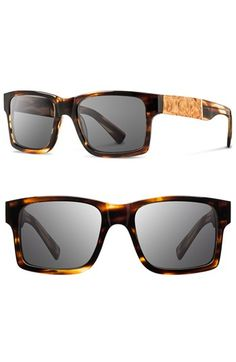 Shwood+'Haystack'+52mm+Wood+Sunglasses+available+at+#Nordstrom