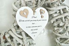 "Personalised ""You're the world"" Valentine Heart - Divine Shabby Chic"