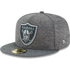 Oakland Raiders New Era Shadow Stitcher 59FIFTY Fitted Hat – Heathered Gray 929b05f07