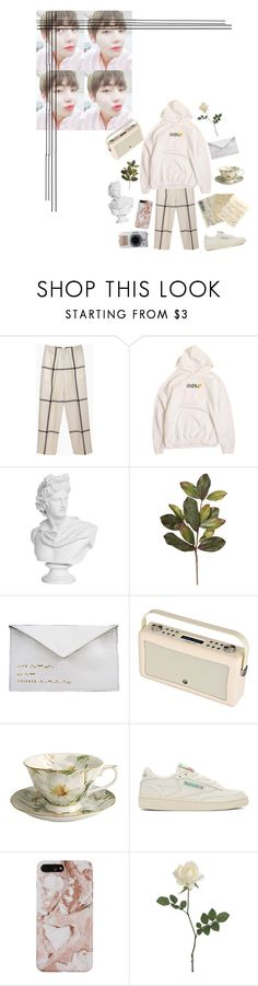 """happy Gucci boy tea day ☄・:*"" by itstepna ❤ liked on Polyvore featuring 3.1 Phillip Lim, Antoinette Lee Designs, Zara, Reebok, kpop, bts, taehyung and polyvorefashion"