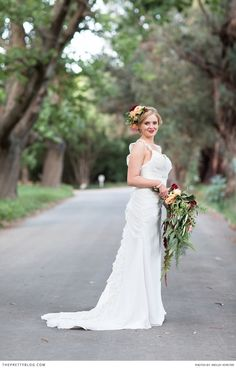 Elegant wedding gown with ruffles down the side. Photography: Wesley Vorster Photography