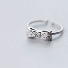 $5.47  Bow Rhinestone Ring