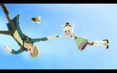 Alistair and Bunny flying in the air?