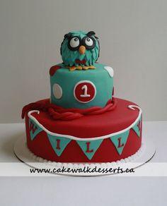 Owl Cake - by cakewalkheather @ CakesDecor.com - cake decorating website