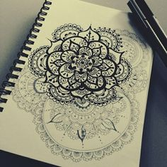 art, black and white, drawing, mandala, world