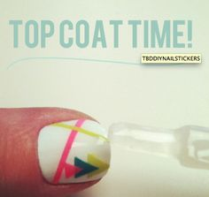 DIY Nail Stickers  Use nail polish on scotch tape and cut the shapes you want!