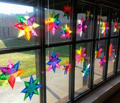 Origami Suncatchers Art with Mrs. Nguyen (FKA - Art with Ms. Gram): Radial Origami Suncatchers with Mrs. Nguyen (FKA - Art with Ms. Classroom Art Projects, School Art Projects, Art Classroom, Fun Art Projects, Classe D'art, 5th Grade Art, Math Art, Art Lessons Elementary, Elements Of Art