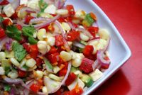 For non seafood people.  Would be a great side dish with pasta.  Vegetarian Ceviche Salad - Ceviche de Verduras: Vegetarian Ceviche Salad