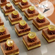 Bouchées tropicales - Guy Demarle Mini Desserts, Dessert Recipes, Beautiful Desserts, Party Buffet, Dessert Decoration, Small Cake, Chocolate Lovers, Mini Cakes, How To Make Cake