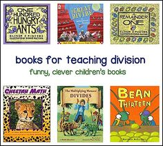 Many books that can be used as mentor texts during math workshop to teach the division concepts.
