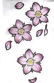 cherry blossom petal tattoo - Google-haku