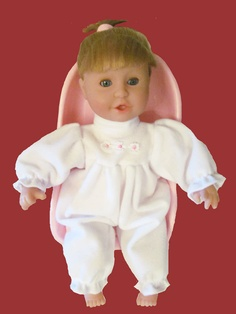 12 inch doll white onesie Mine to Love Baby Doll See Measurements. $9.99, via Etsy.