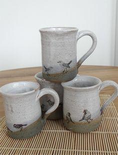 Ceramic mugs with bird images on Folksy - Mecki Allen Ceramics