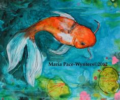 painting of koi fish - Google Search