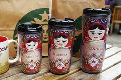 Starbucks coffee tumbler of Russia