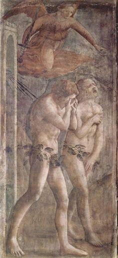 MASACCIO - Chapelle Brancacci - Adam et Eve chassés du paradis