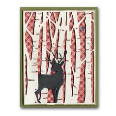2013 Holiday Card 8 Die-cut Background Deer