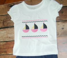 Sailboat Tee Shirt by BibsandBurps on Etsy, $20.00