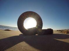 Tires sunset beach CA Captured w/gopro