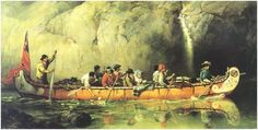 Voyageurs in a North Canoe Frances Anne Hopkins. Library and Archives Canada Commonwealth, Battle Of Quebec, Great Lakes Region, Fur Trade, Indian Pictures, Canadian History, American History, Hudson Bay, Park Service
