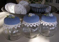 Halager: Hæklede låg og æggevarmere - Blogbutikken er åben