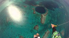 Skydiving into the Blue Hole in Belize ... SEE VIDEO ... I want to do this soooooooo bad ... The video is so beautiful and calming to me, and for some reason it reminds me of Guam (Btw the noise eases up around the 2 minutes in).... ~Crystaline
