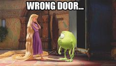 Wrong Door... (Tangled and Monsters Inc.)