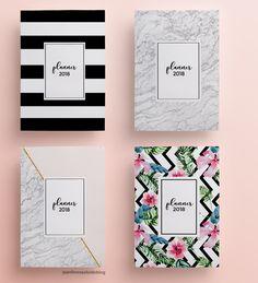 Enfim, resolvido!: Download do planner 2018 versão P&B minimalista Notebook Cover Design, Notebook Covers, Bullet Journal School, Planner 2018, Blog Planner, School Notebooks, Cute Notebooks, Diy Back To School, Decorate Notebook