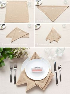Table Setting Tips: The French Napkin Fold | Evermine Blog | www.evermine.com