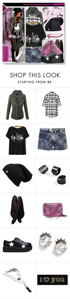 """""""#BlackT-shirt  #Romwe #Punky"""" by prigaut ❤ liked on Polyvore featuring Ally Fashion, rag & bone, She + Lo, Alexis Bittar and Seletti"""