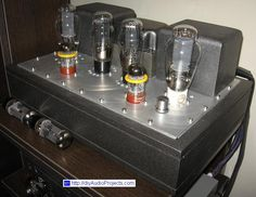 DIY Single-Ended (SE) 300B Tube Amplifier - Side
