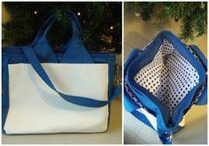 Sac Foxtrot blanc & bleu cousu par Aurely !