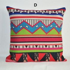 Colored geometric throw pillow for Southeast Asia decoration 18 inch square cushions