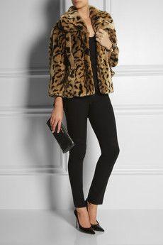 Fabulous Miu Miujaguar print faux fur jacket