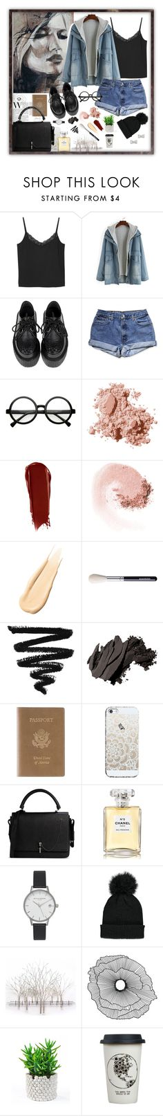 """""""Sem título #19"""" by naianycoco ❤ liked on Polyvore featuring Monki, Retrò, Bobbi Brown Cosmetics, NARS Cosmetics, Hourglass Cosmetics, Royce Leather, Casetify, Carven, Chanel and Olivia Burton"""