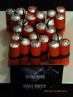 "Dynamite - Cool, but not sure how it's made! Lifesavers, wrapped in red felt maybe?? and black ribbon/yarn to tie them, and black yarn or pipe cleaners for the ""wick""??"